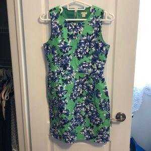 J Crew Floral Dress w/ pockets